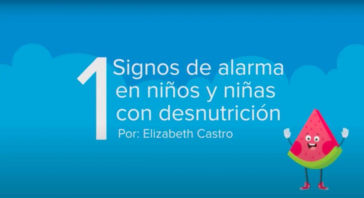 Signos de alarma en niños y niñas con desnutrición